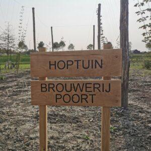 infobord hoptuin Brouwerij Poort